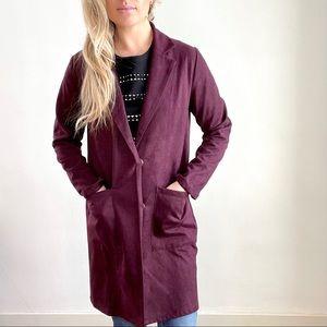 Mystree Purple Plum Long Jacket Small